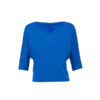 Boxy ½ aerme V Hals T Shirt BL8825 True Royal