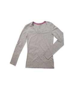 Claire Langaermet T shirt S9720 Graa Heather