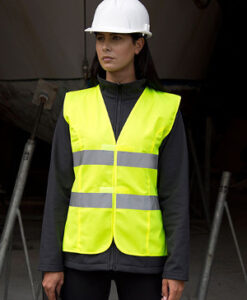Dame High Viz Tabard RT334F Fluorescent Gul