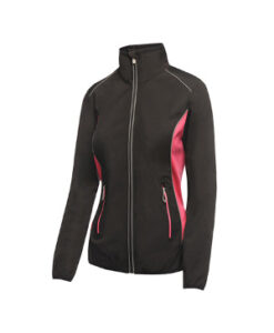 Dame Sochi Softshell Jakke RGA691 Sort Hot Pink